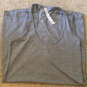 Lululemon Grey Long Fitted Tank sz 6 NWOT